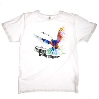 Freedom From Religion vit t-shirt för humanist, sekulär, ateist i jakt på design, kläder, statement