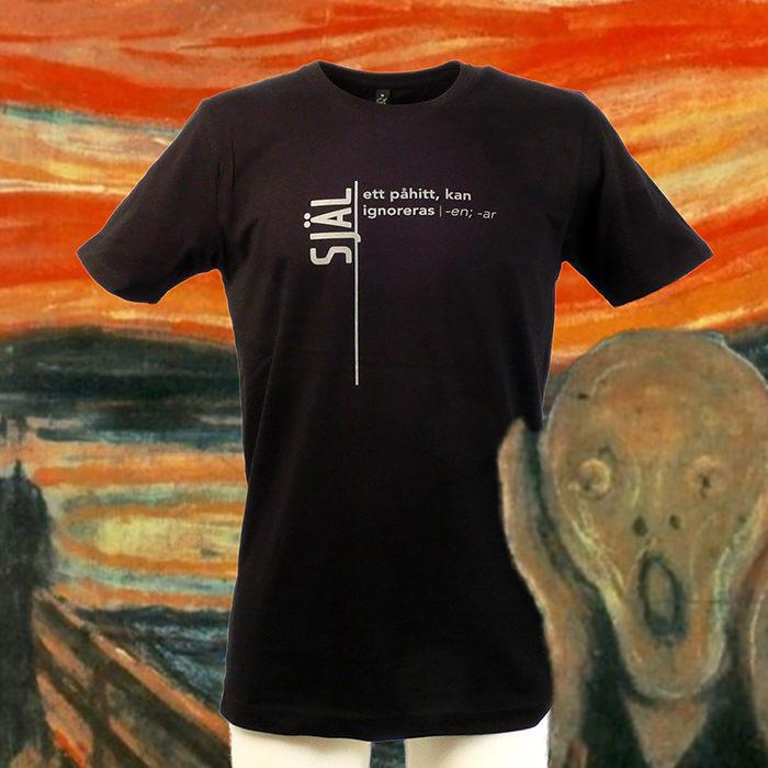 Själ - ett påhitt, kan ignoreras. Källa Sekulär Ordbok. T-shirt i serien ordbokstee